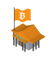 bitcoin bank cryptocurrency exchange financial vector image vector image