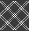black cage rhombus check plaid fabric swatch vector image