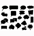 black speech bubbles icons vector image vector image