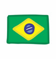 brazilian flag freehand vector image
