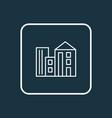 building icon line symbol premium quality vector image