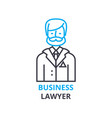 business lawyer concept outline icon linear vector image vector image