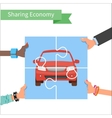Car share concept Sharing economy and vector image vector image