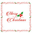 christmas greetings card white simple background vector image