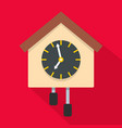 clock creative icon flat style vector image