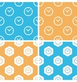 Clock pattern set colored vector image vector image
