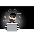computer hacker design vector image