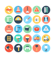 Construction Colored Icons 4 vector image vector image