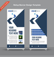 corporate dark and light blue rollup banner vector image vector image