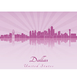 Dallas skyline in purple radiant orchid vector image vector image