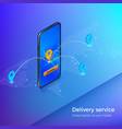 delivery service or mobile shipping app banner vector image vector image