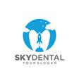 dental rocket logo design template vector image