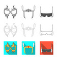 design of hero and mask logo collection of vector image vector image