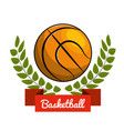 emblem play basketball icon vector image vector image