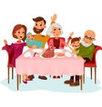 Family on traditional holiday dinner vector image vector image