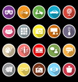 Favorite and like flat icons with long shadow vector image vector image