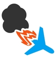 Fired Airplane Icon vector image vector image
