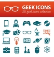 geek icons vector image vector image