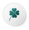 green four leaf clover icon isolated on white vector image vector image