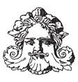 grotesque mask is a venetian italian renaissance vector image vector image