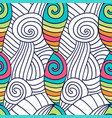 hand drawn coloring page spiral wavy background vector image vector image