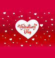 happy valentines day greeting postcard vector image vector image