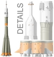 Hidetailed space rocket
