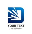 initial letter d logo design template element vector image vector image