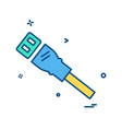 lan cable icon design vector image