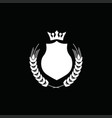 luxury crest decorative shield logo vector image vector image