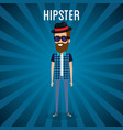 man style hipster character vector image vector image