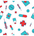 medical icons pattern vector image vector image