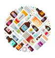medicine concept drug medication bottles and vector image