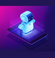 mobile robotics concept isometric vector image vector image