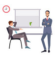 modern flat character design on businessman vector image vector image