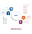 modern infographic chart template for vector image