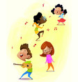musician friends vector image vector image