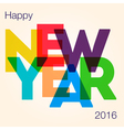 NY2016 Color Letters vector image vector image