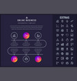 online business infographic template and elements vector image