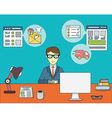 Online shopping for businessman vector image