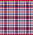 patriotic tartan white blue red seamless vector image vector image