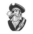 pirate sketch vector image vector image