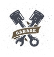 Pistons and spanners hand drawn vector image vector image