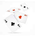 Playing Poker Cards Poster vector image