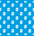 poker cards pattern seamless blue vector image vector image