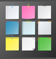 post note paper set on gray background vector image