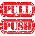 Push pull stamp vector image