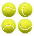 realistic 3d detailed yellow tennis ball set vector image vector image
