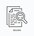 review line icon outline vector image