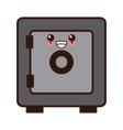 safe deposit box kawaii cute cartoon vector image vector image